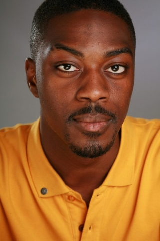 Colour headshot photo taken with studio lighting of actor David Ajala © Vincenzo Photography