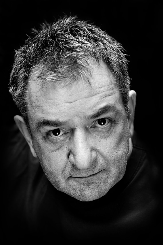 Ken Stott headshot in black and white taken at West Theatre © Vincenzo Photography