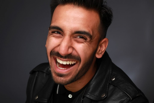 Pranav Goutam smiling  photo taken in studio © Vincenzo Photography