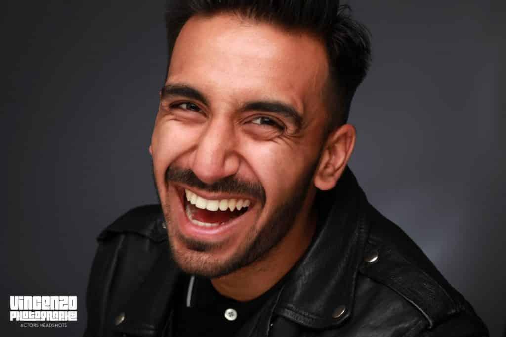 Pranav Goutam smiling  photo taken in studio © Vincenzo Photography