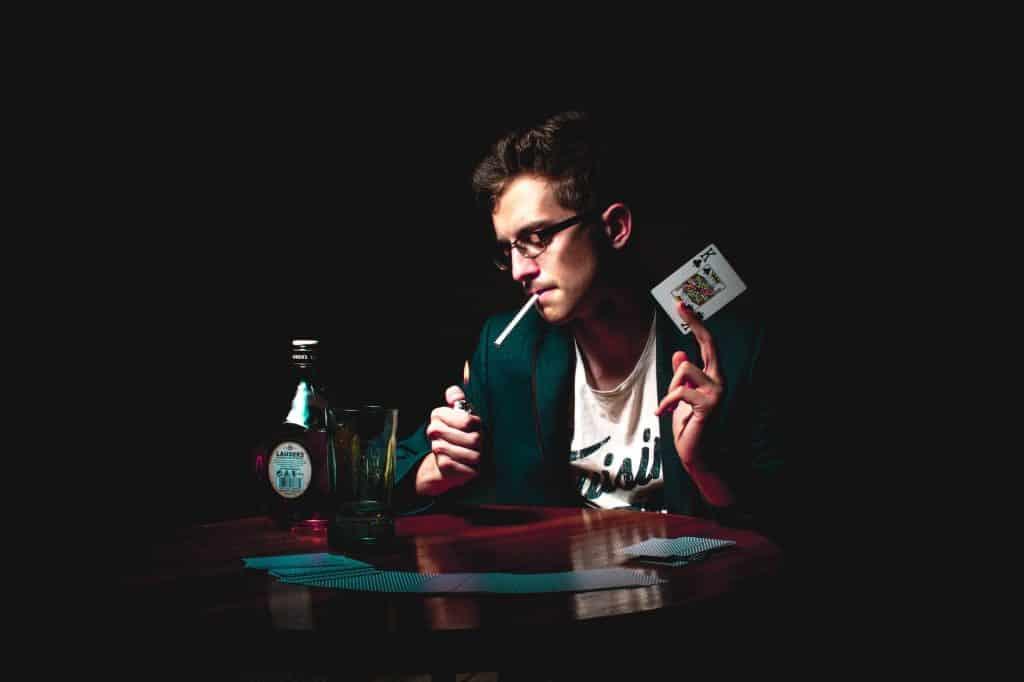 man smoking during self tape