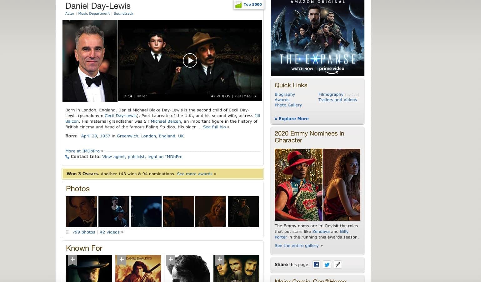 imdb pro page